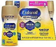 Enfamil NeuroPro Ready to Feed Baby Formula Milk, 8 fluid ounce (6 count) - MFGM, Omega 3 DHA, Probiotics, Iron & Immune Supp