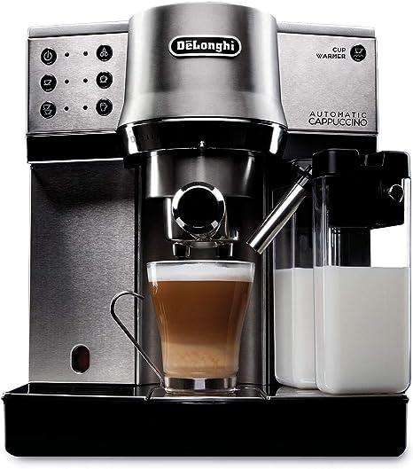 Delonghi DEDICA CAPPUCCINO EC860 Cafetera espresso con sistema cappuccinador automático Steel