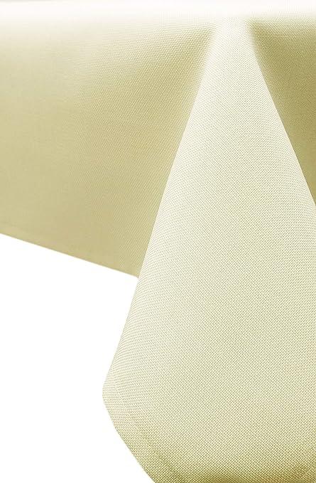 ZOLLNER® Mantel Antimanchas Grandes/Mantel Antimanchas Rectangular, Textura de Lino Fino, 140x 220 cm, Crema, Medidas, del especialista para ...