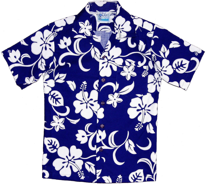 RJC Boy's Classic Hibiscus Hawaiian Shirt BQK