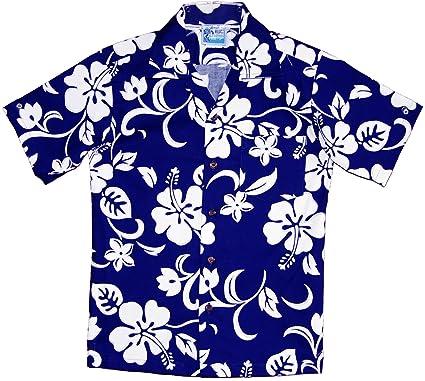 50d7d087 Amazon.com: RJC Boy's Classic Hibiscus Hawaiian Shirt: Clothing