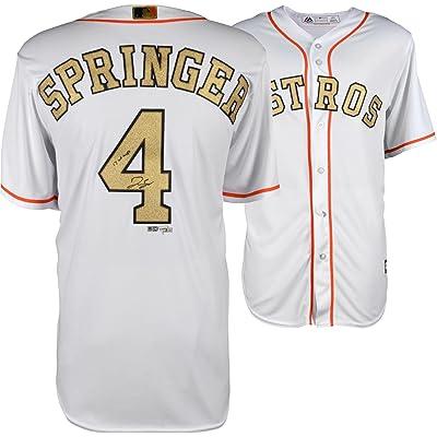 online retailer 5bbc3 43ef1 George Springer Houston Astros Autographed 2018 Gold Program ...