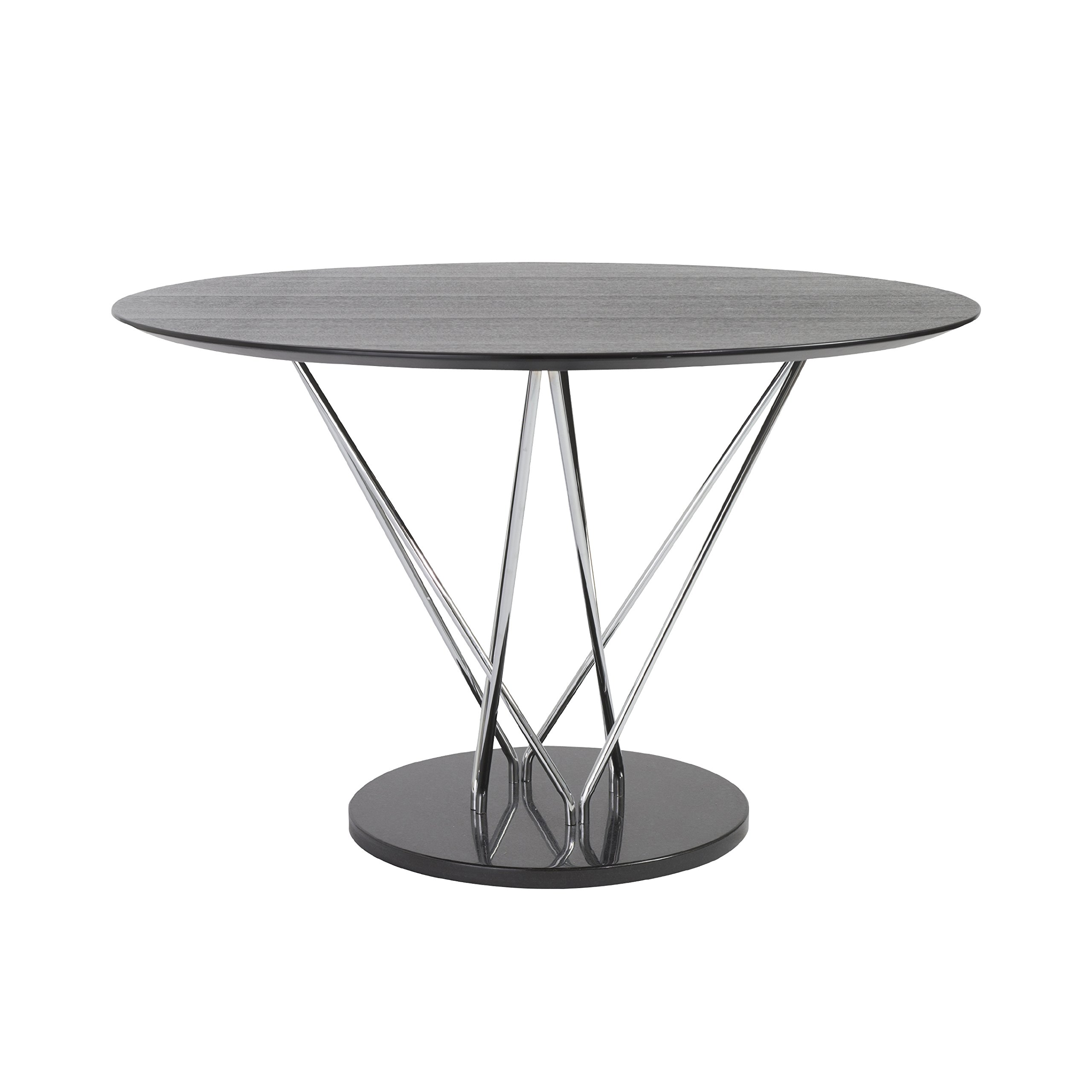 47'' Round Ebony and Steel Meeting Table by eS (Image #2)