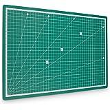 pretex Tappetino da taglio 45x 30cm (A3) in PVC riciclato in verde con chiusura automatica, superficie | 2anni di garanzia di soddisfazione | da taglio, Cutting Mat