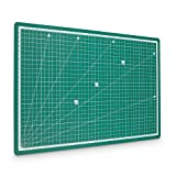 PRETEX Premium Cutting Mat 45 x 30 cm (A3) 5 layers, green, self healing, non-slip, metric cutting pad with clear grid lines for accurate trimming / 2 year satisfaction guarantee/ self-closing surface cutting mat with marking lines is the perfect scrapbooking tool, arts and crafts guided cutting pad for paper, fabric, material, card, cardboard and photos