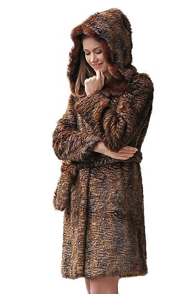 Cappotto di pelliccia Adelaqueen per donna in finto astrakan persiano f0faea65d07