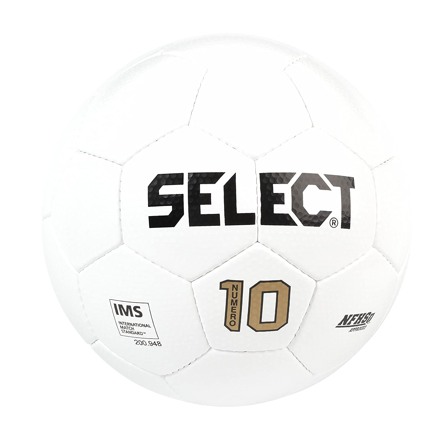 Select Numero 10 - Balón de fútbol, Color Blanco, tamaño 4: Amazon ...