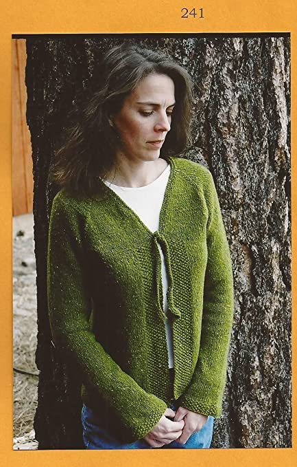 Amazon Knitting Pure Simple Knitting Pattern 241 Neckdown V
