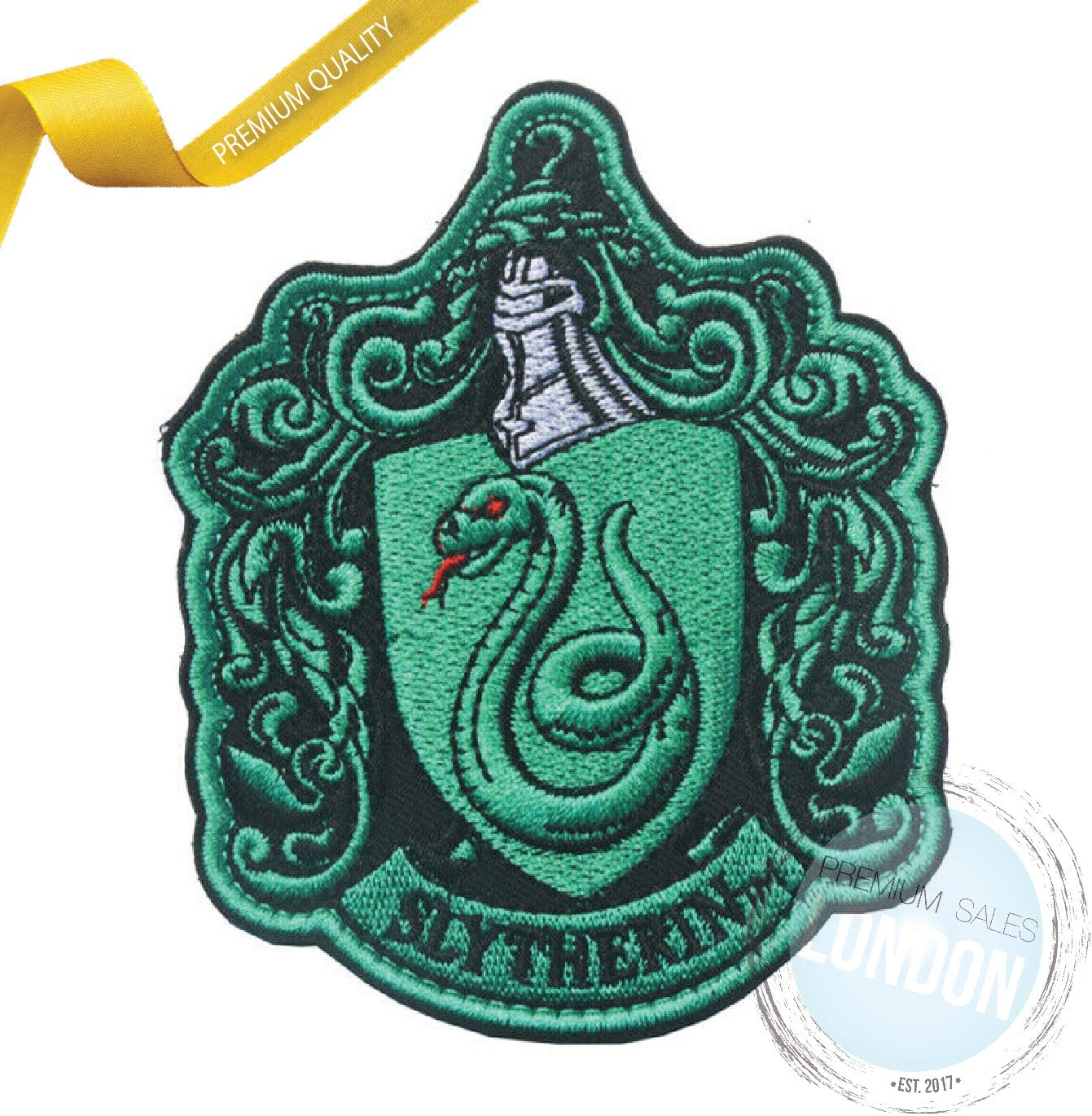 Harry Potter Slytherin Character Embroidery iron or sew on Patch Badge
