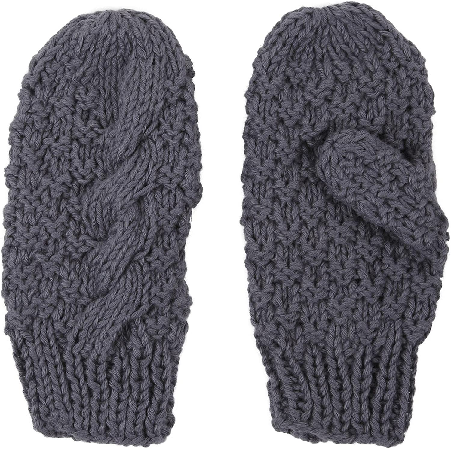 Pewter 2H Hand Knits Little Unisex Child Knit Mittens
