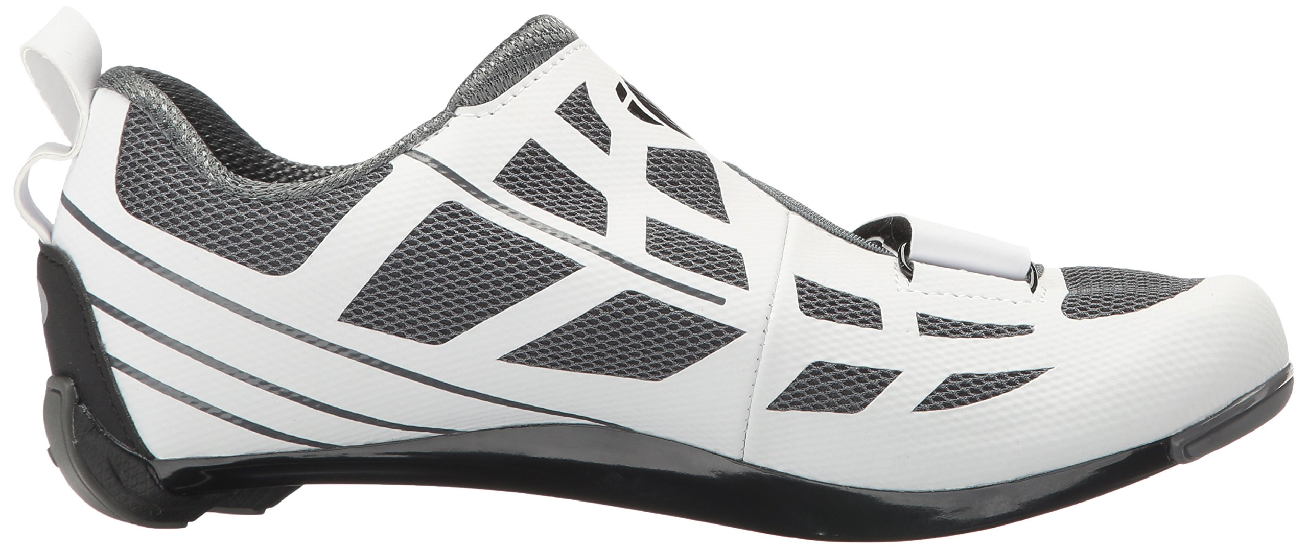 Pearl iZUMi Women's W Tri Fly Select V6 Cycling Shoe, White/Shadow Grey, 42 EU/10 B US by Pearl iZUMi (Image #7)