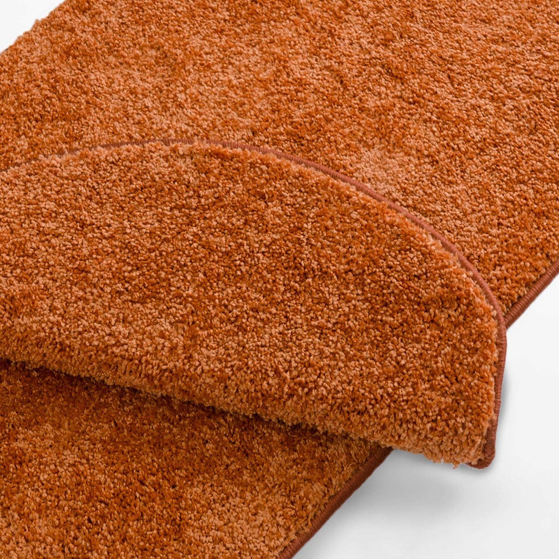 Casa pura Teppich Läufer Uni Terra   Qualitätsprodukt aus Deutschland   Gut Siegel   Kombinierbar mit Stufenmatten   19 Breiten und 18 Längen (100 x 200cm)