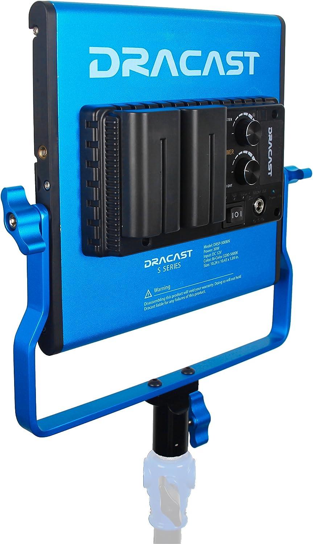 Blue Dracast DRL500SBNC3LK LED500 Video Panel 3-Light Kit with NP-F Battery Plates and Soft Nylon Case