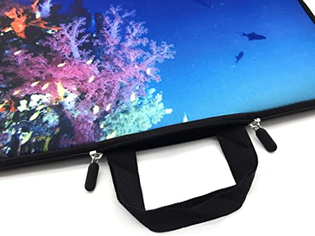 Xxh 15Inch Laptop Sleeve Case Tropical Beach Neoprene Cover Bag Compatible IPad Pro