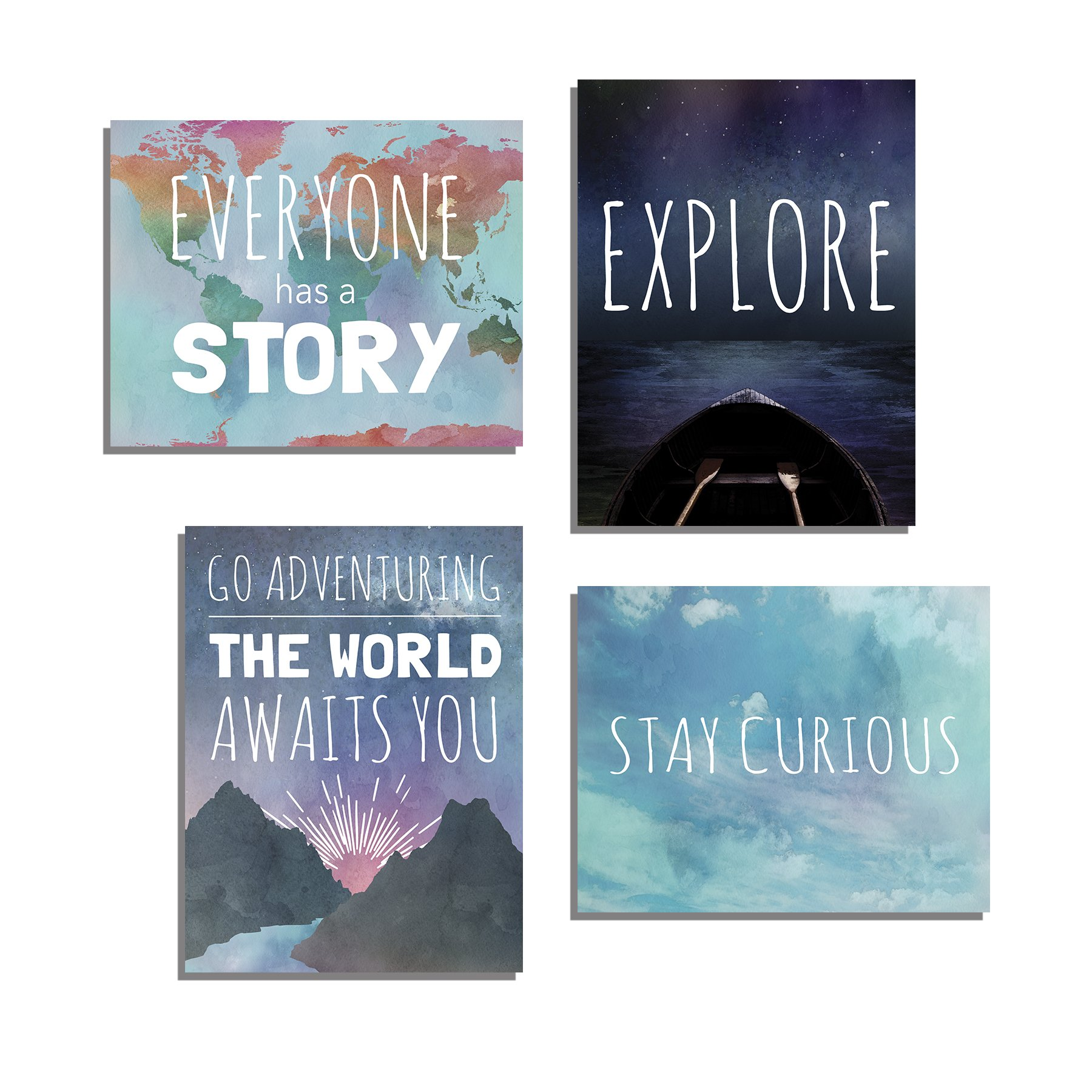 Explore Collection of Four 11x14 Wall Art Prints, Typography, Nursery Decor, Kid's Wall Art Print, Kid's Room Decor, Gender Neutral, Motivational Word Art, Inspirational Decor for Kids, Playroom Decor by Children Inspire Design (Image #1)