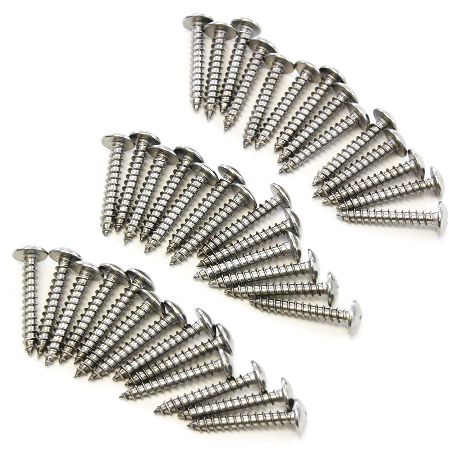 Red Hound Auto 20 Marine Pan Head Screw Set Dock Bumper Installation 10 x 2-1//2 Inches SS Stainless