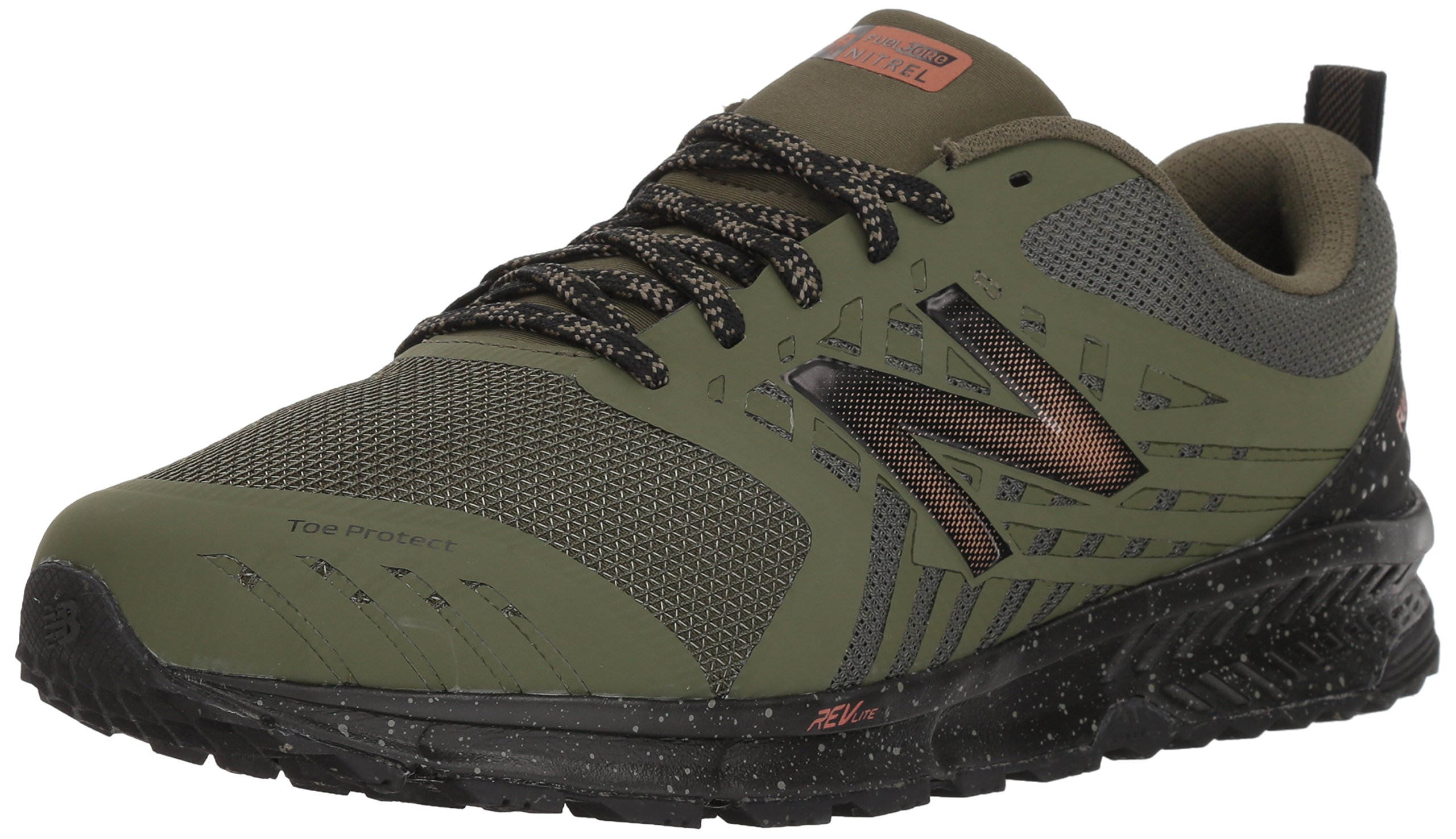 New Balance Men's Nitrel v1 FuelCore Trail Running Shoe, Dark Covert Green, 8.5 D US by New Balance