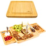 Cheese Board Set - Stainless Steel Cheese Knife Two Serving Trays as Part of The charcuterie Board Set Perfect as House…