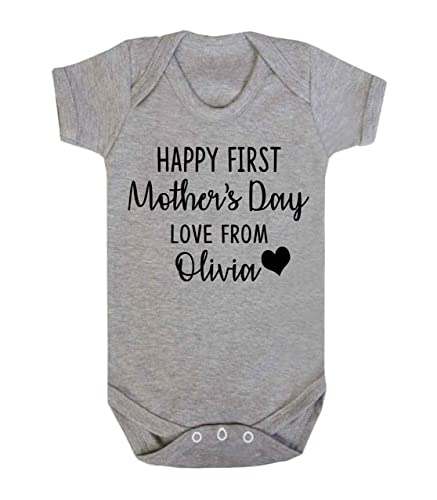 Personalised happy first mothers day love from baby vest romper personalised happy first mothers day love from baby vest romper baby gifts newborn gifts 2018 babywear negle Gallery