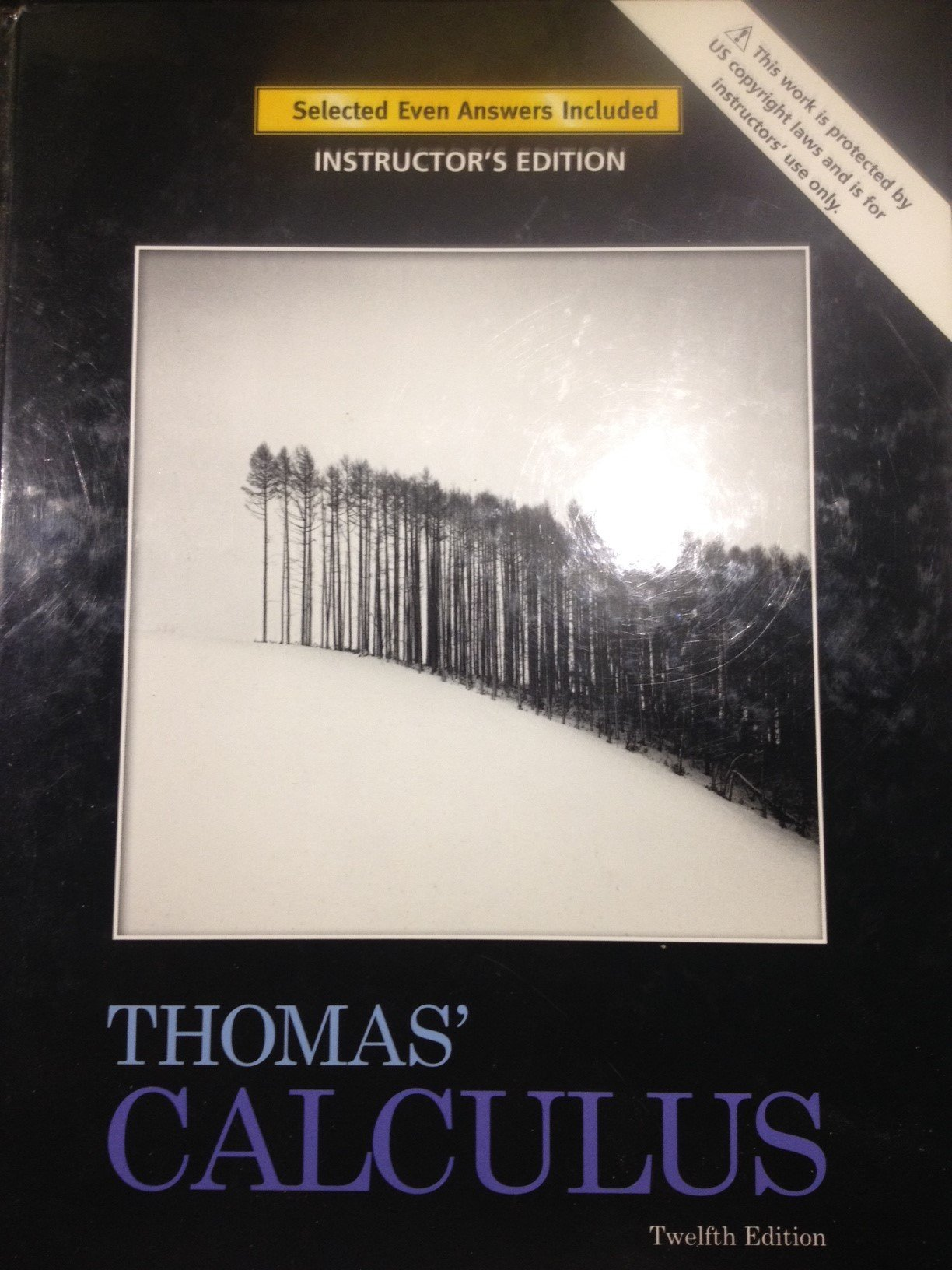 Instructor's Edition for Thomas' Calculus (12th Edition): Jr. George B.  Thomas;Maurice D. Weir;Joel R. Hass: 9780321600752: Amazon.com: Books