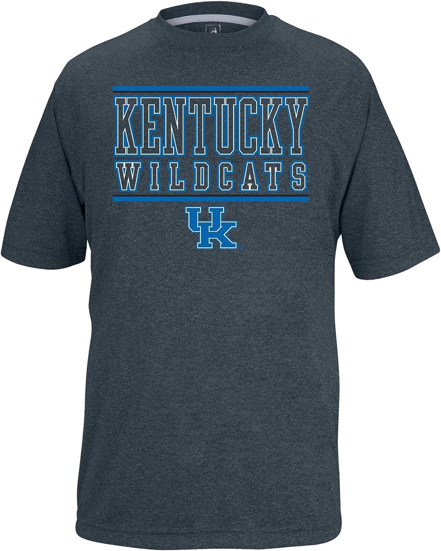 NCAA Kentucky Wildcats Boys Youth Bar Design Vital Poly Tee Charcoal Heather Medium