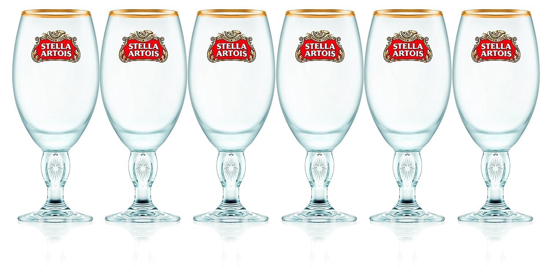 Stella Artois 00021 Chalice 6-Pack, Clear