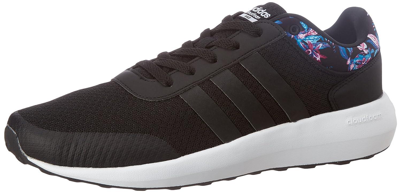 Adidas Cloudfoam Race W, Zapatilla de Deporte Baja del Cuello para Mujer 39 1/3 EU|Negro (Cblack/Cblack/Ftwwht)