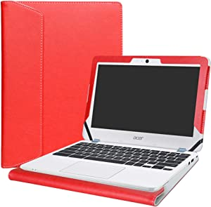 """Alapmk Protective Case Cover for 11.6"""" Acer Chromebook 11 C771T C771 & Chromebook Spin 11 CP311-1HN R751T CP511-1HN R751TN & Chromebook 11 N7 C731T C731 CB311-7H CB311-7HT Series Laptop,Red"""
