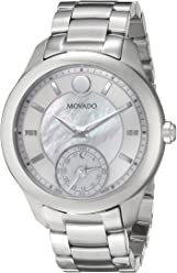 Movado Womens 0660004 Analog Display Swiss Quartz Silver Smartwatch
