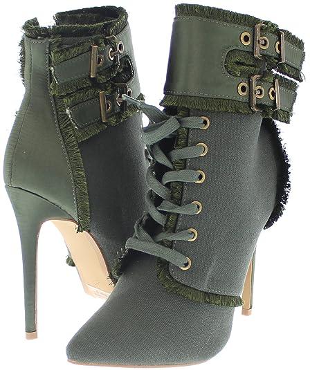 ac4e5f19ece Amazon.com | Shoe Republic Pointy Toe Stiletto Ankle Bootie Aguila ...
