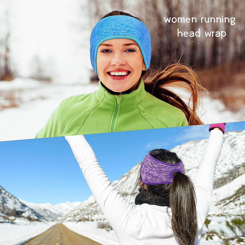 Details about  /Ponytail Headbands Fleece Earband Winter Running Headband Ear Warmer for Women