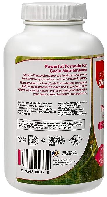Zahler TransCycle, Powerful Cycle Maintenance Formula, Supports the Female  Hormonal System, Certified