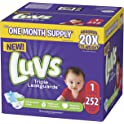 Luvs Ultra Leakguards Disposable Baby Diapers (Sizes 1 to 6) from $13.04