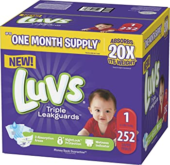 Luvs Ultra Leakguards Disposable Baby Diapers (Sizes 1 to 6) from $9.44