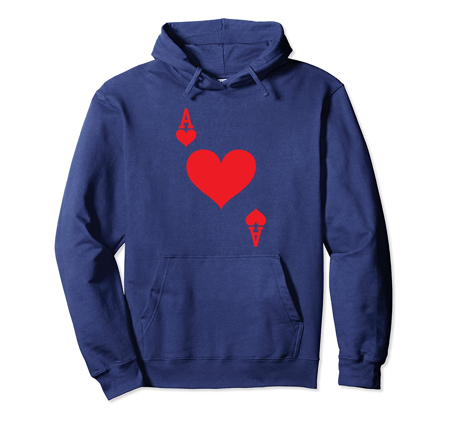 Ace of Hearts - Playing Card Halloween Costume Hoodie-mt