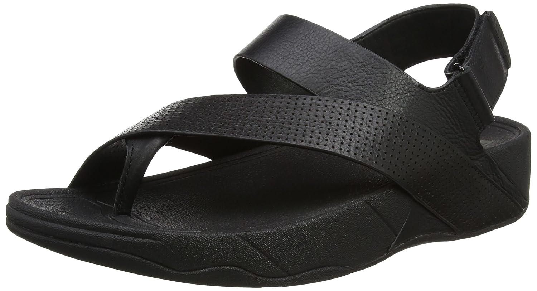 Fitflop Sling Perf Mens Leather Sandal - Sandalias Hombre 47 EU|Black (All Black)