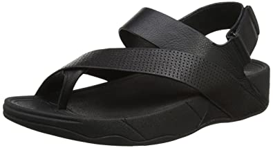 cdcfbd439 Fitflop Sling Perf Mens Leather Sandal Open-Toe (Black)