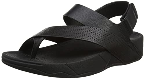 Fitflop Men's Sling Perf Leather Open-Toe Sandals, Black (All Black),