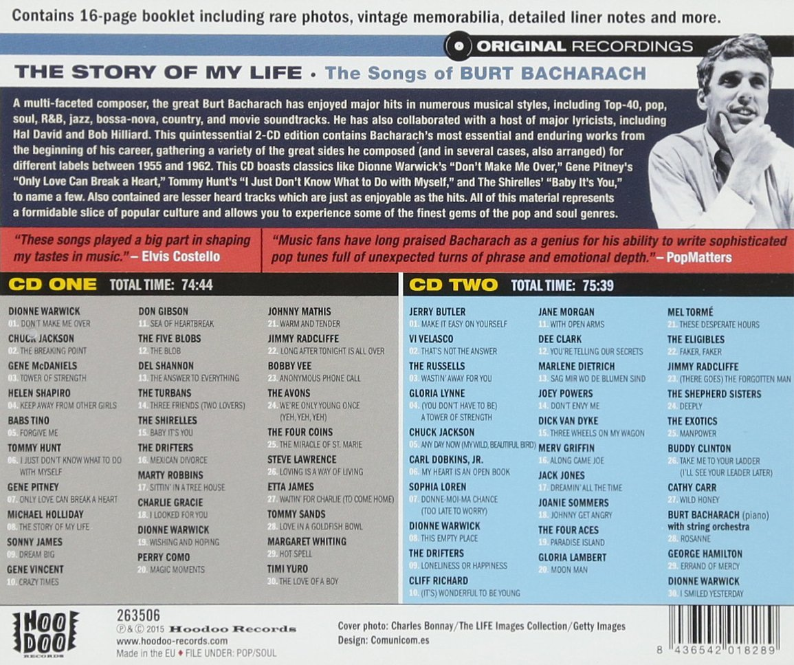 THE SONGS OF BURT BACHARACH THE STORY OF MY LIFE(2CD)