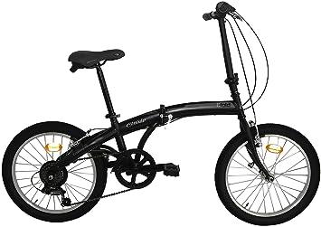 Bicicleta plegable C-Fold de acero de 20pulgadas, cambio SHIMANO 6