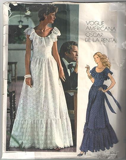 Amazon.com: Vintage Vogue 1043 Americana Oscar De La Renta Designer ...