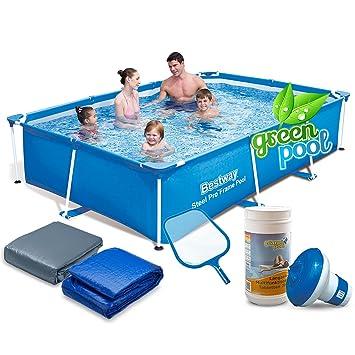 Global Gartenpool Set Mit Zubehör 259 X 170 X 61 Cm Frame Pool