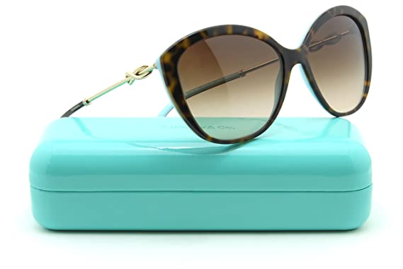 54ae7387cba Image Unavailable. Image not available for. Color  Tiffany   Co. TF 4144-B Women  Cat-Eye Sunglasses Brown Gradient 81343B
