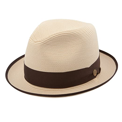 8b554287cda Stetson Men s Latte Florentine Milan Straw Hat at Amazon Men s Clothing  store