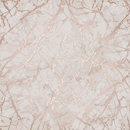 Image Unavailable Image Not Available For Color Metallic Marble Wallpaper Rose Gold