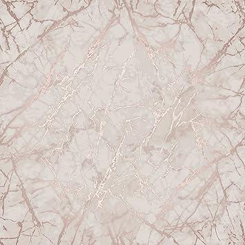 Papier Peint En Marbre Metallique Rose Or Fine Decor Fd42268