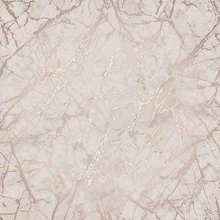 marble wallpaper rose gold  Metallic Marble Wallpaper Rose Gold Fine Decor FD42268 - - Amazon.com