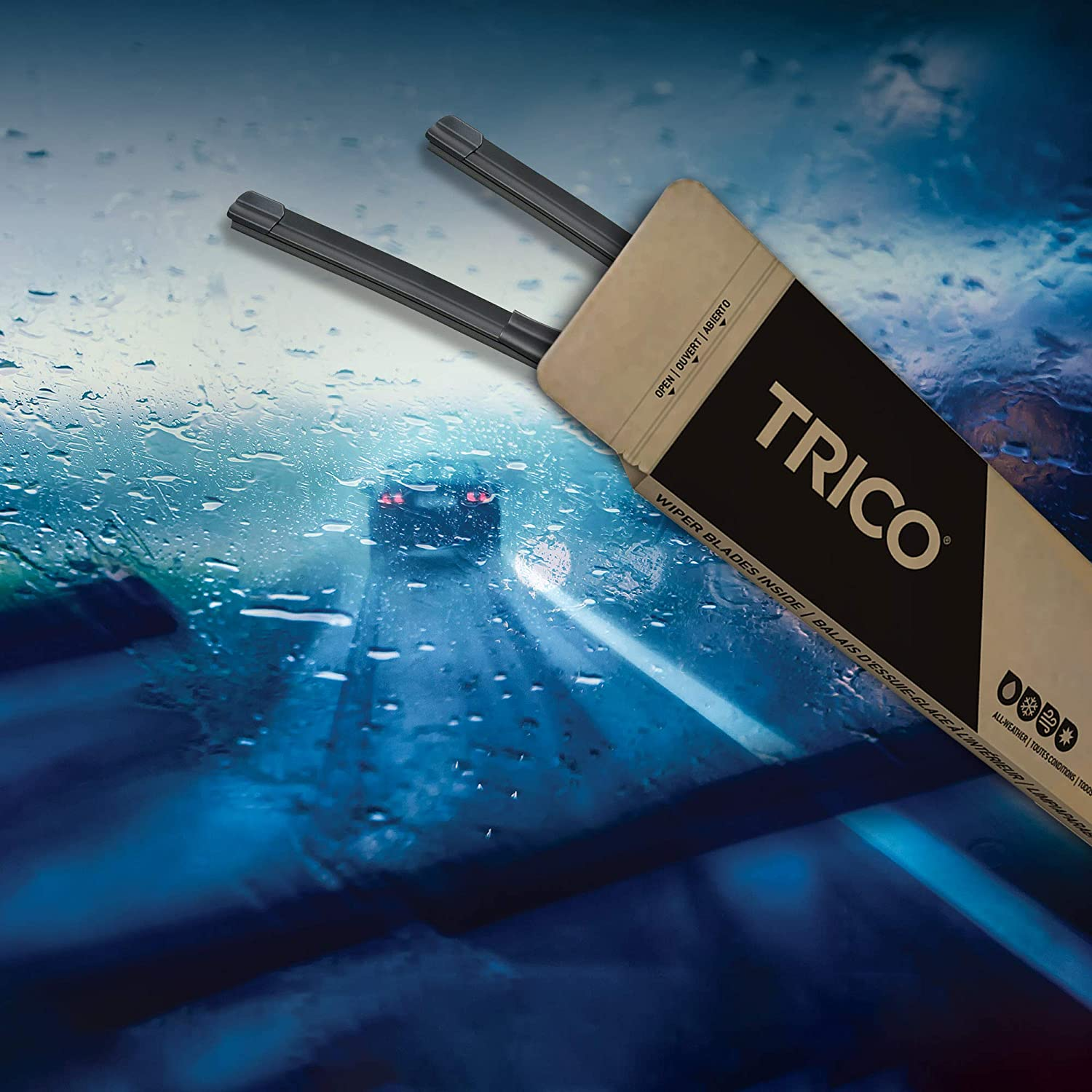 Pack of 2 TRICO Gold All Weather Beam Wiper Blades 16 16