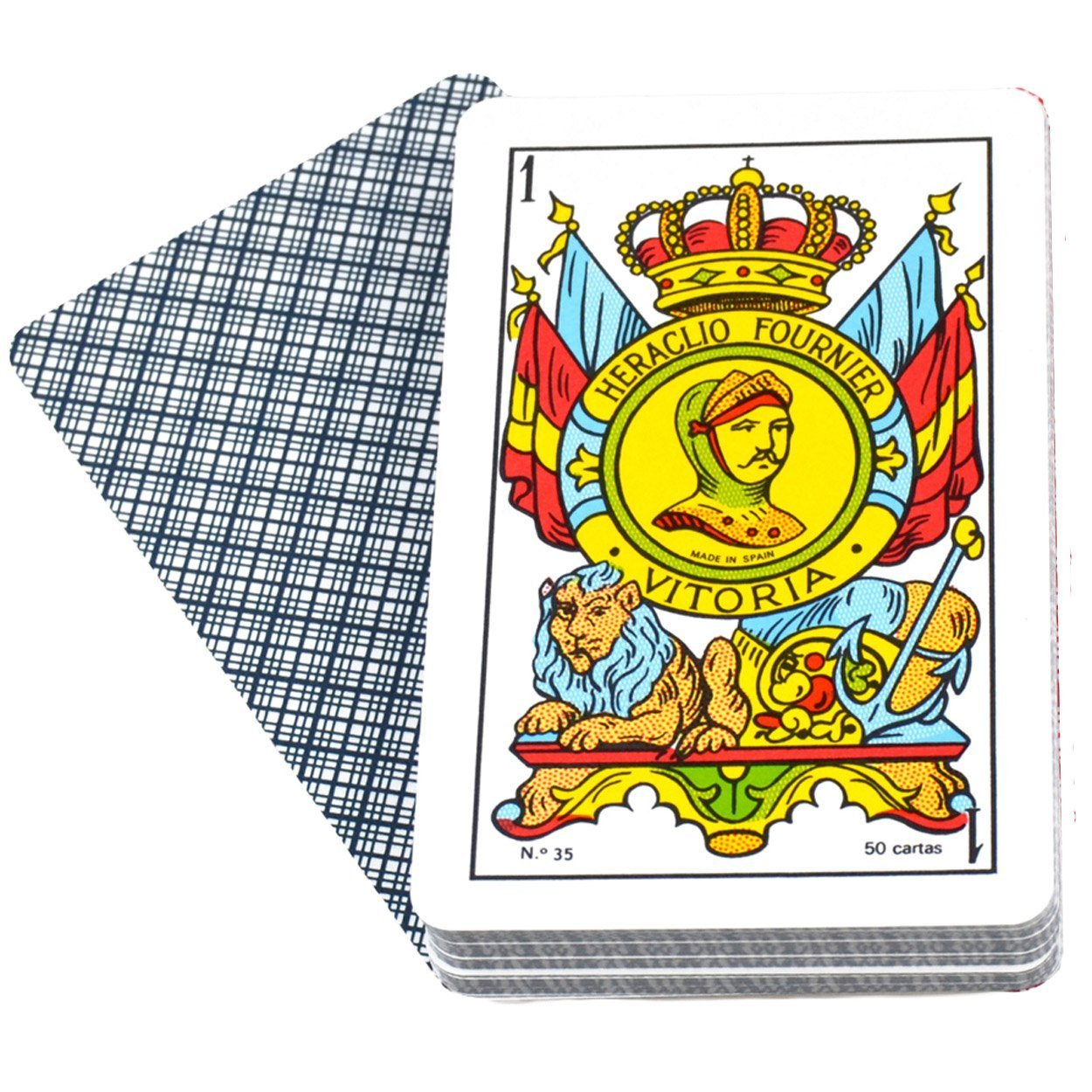Deck of 50 Fournier Spanish Playing Cards Catalan Face #35 Cello Wrap - Baraja Española Catalana