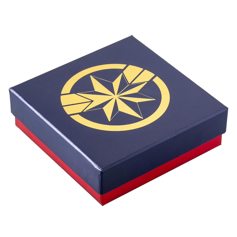 Marvel/'s Captain Marvel Hala Star Logo Yellow Gold Plated Stud Earrings Set Jacmel SF00154YLNJ